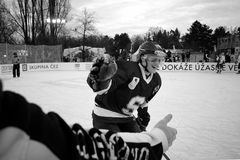 Hockey moment Royalty Free Stock Images