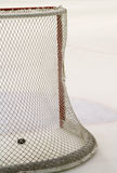 Hockey net. Goal post and net in a hockey arena Royalty Free Stock Image