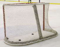 Hockey net. Goal post and net in a hockey arena Royalty Free Stock Photography