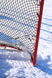 Hockey net. A detail of a hockey net Royalty Free Stock Photos
