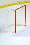 Hockey net. A shot of an empty hockey net Royalty Free Stock Photos