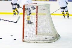 Hockey net. An hockey net on ice Stock Photography