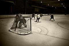 Hockey net Stock Image