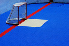 Hockey Net on Blue Stock Image