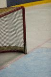 Hockey net. On the ice Stock Photos