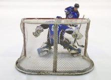 Hockey net. Ice hockey net seen from behind Royalty Free Stock Image