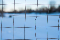 Hockey Net Macro Stock Image