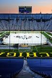 Hockey på Michigan Stadium Royaltyfria Bilder