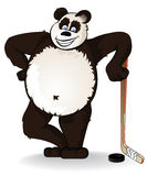 Hockey panda Stock Image