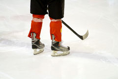 Hockey player. Ice hockey player with stick stock photos