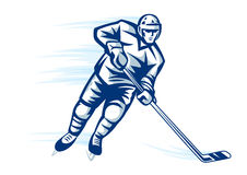 Hockey player Royalty Free Stock Photos