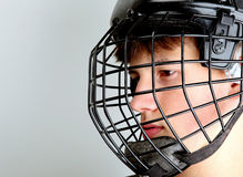 Hockey player. On the ice stock image