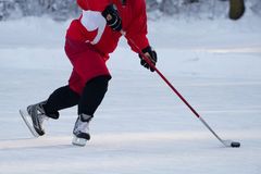 Hockey player. Skating on ice stock images