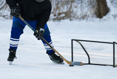 Hockey player. And sport gate Stock Image