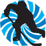 Hockey player. Silhouette hockey player in participation symbol-eps file available Royalty Free Stock Photography