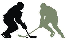 Hockey player royalty free illustration
