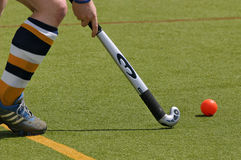 Hockey player. Stick & ball stock photos