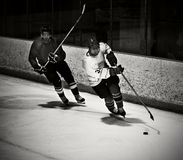 Hockey player. Skating during a game royalty free stock images