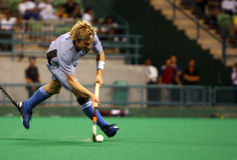 Hockey Player In Action. (motion blur effect Royalty Free Stock Photos