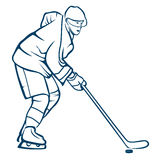Hockey Player in Action. Royalty Free Stock Image