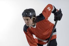 Hockey Player Agressive Stock Photos