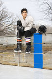 Hockey player boy. Stock Photo