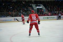 Hockey player Cami Lepistё Royalty Free Stock Photography