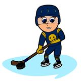 Hockey player cartoon Stock Image