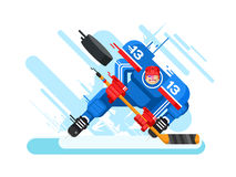 Hockey player character Stock Images
