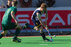 Hockey Player DHS Schools Pass Astro Stock Image