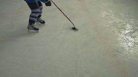 Hockey Player Dribbling stock video