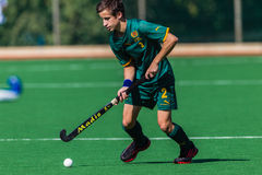 Hockey Player Glenwood Focus Ball Stock Photo