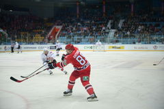 Hockey player of hockey club Avtomobilist Yekaterinburg Andrei Antonov Royalty Free Stock Images