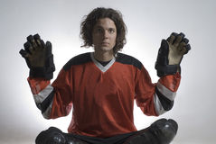Hockey Player - Horizontal Royalty Free Stock Photography