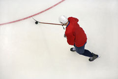 Hockey player on ice Stock Photos