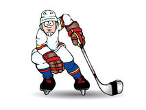 Hockey player illustration Stock Photo