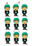 Hockey player little boy for kids emoticons royalty free illustration