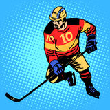 Hockey player number 10. Professional ice sports competitions Stock Image