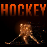 Hockey player poly Stock Images