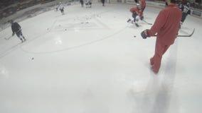 Hockey Player POV View stock footage