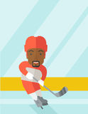 Hockey player at rink Stock Images