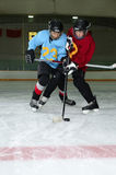 Hockey Player Scrimmage in Rink Royalty Free Stock Photography