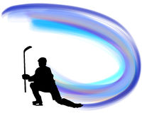 Hockey player silhouette Royalty Free Stock Image