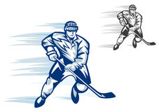 Hockey player in sports uniform Royalty Free Stock Images