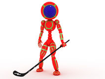 Hockey player with a stick #6 Stock Image