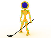 Hockey player with a stick  #4 Royalty Free Stock Image
