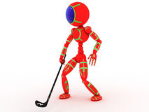 Hockey player with a stick #5 Stock Images