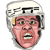 The hockey player. Vector illustration. The hockey player in rage Stock Photography