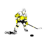 Hockey player. Vector image of a player in hockey Royalty Free Stock Photography