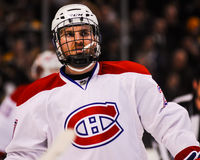 Hockey Player Wearing Protective Headgear Royalty Free Stock Photo